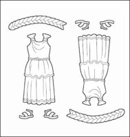 World Thinking Day Traditional Greece Clothing Outline