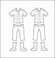 Greece Girl Guide Uniform for Thinking Day Outline