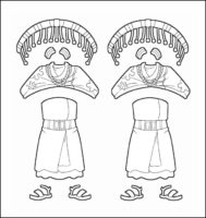 World Thinking Day Traditional Kenya Clothing Outline