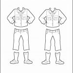 Superhero Paper Dolls | Willow Russia Girl Guide Uniform Outline