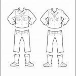 Superhero Paper Dolls | Willow Russia Girl Guide Uniform Outline