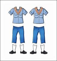 Spain Girl Guide Uniform for Thinking Day