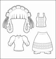 World Thinking Day Traditional Switzerland Clothing Outline