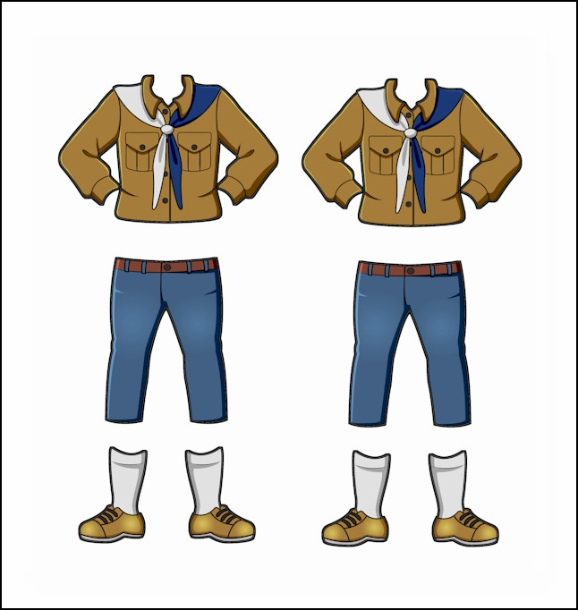Switzerland Girl Guide Uniform for Thinking Day