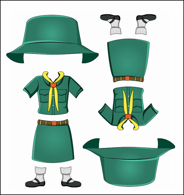 Thailand Girl Guide Uniform for Thinking Day