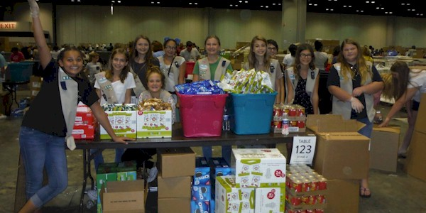Girl Scout Cadette Hurricane Relief