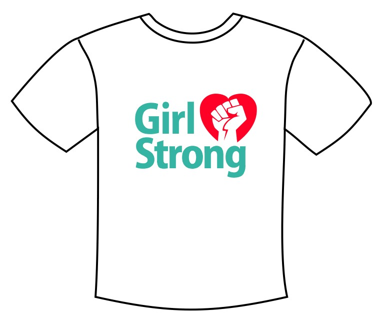 Girl Strong Tee Shirt Transfer