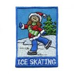 Ice Skating Girl Scout Patch