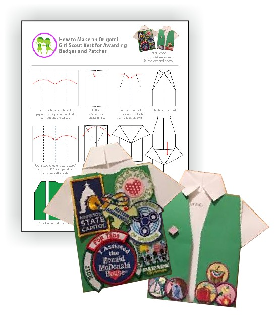Origami Tee Shirt for Girl Scout Awards