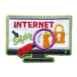 Internet Safety Patch. Your scouts can show they learned and practice internet safety with this patch from MakingFriends®.com. Especially appropriate before troop product sales including fall product and cookie sales. via @gsleader411