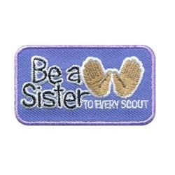 Be a Sister Emoji Girl Scout Fun Patch