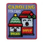 Caroling for Cans Girl Scout Patch