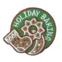 Holiday Baking Girl Scout Patch