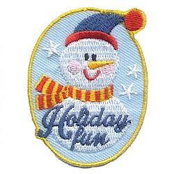 Holiday Fun Girl Scout Patch