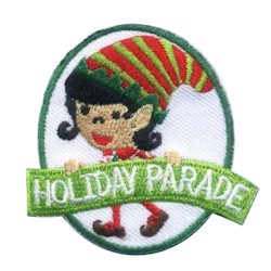 Holiday Parade Patch - Elf from MakingFriends®.com. This fun Holiday Parade patch features a cute elf your girls will love. via @gsleader411