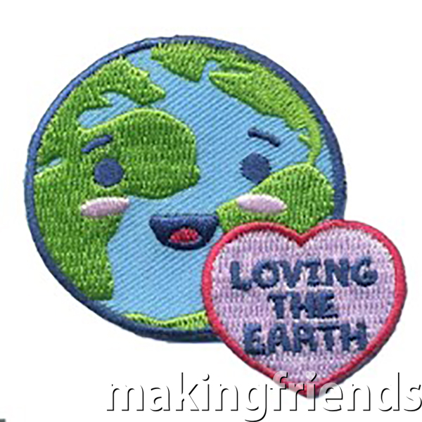 Perfect for your Daisy Earth and Sky journey or environmental project. Free with Earth Journey Badge in a Bag kit! #makingfriends #lovingtheearth #gsbadges #funpatch #gsfunpatches #earthfriendly via @gsleader411