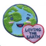 Loving the Earth Girl Scout Fun Patch