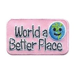 Make the World a Better PlaceEmoji Girl Scout Fun Patch