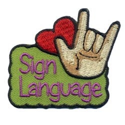 Sign Language Girl Scout Fun Patch