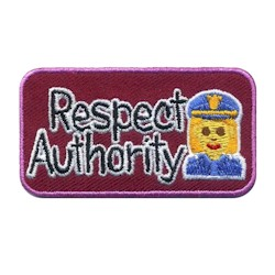 Respect Authority Emoji Girl Scout Fun Patch