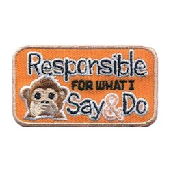 Responsible for What I Say and Do Emoji Girl Scout Fun Patch