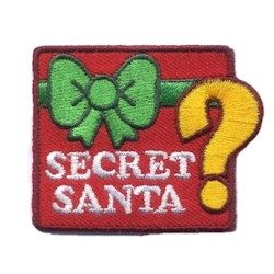 Secret Santa Girl Scout Patch