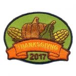 Thanksgiving 2017 Girl Scout Fun Patch