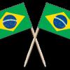 Brazil Toothpick Flags