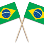 Brazil Toothpick Flags