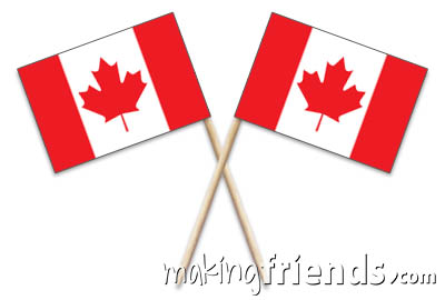 Canada Toothpick Flags via @gsleader411