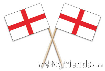 England Toothpick Flags via @gsleader411