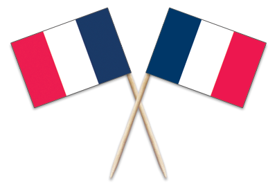 "France Toothpick Flags. 100 to the box. 2.5"". Designs are on both sides of the flag. Perfect for your World Thinking Day* event this year! Can be used for crafts for swapping, give-a-ways, decorations and more! See our page France 