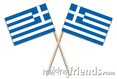 Greece Toothpick Flags via @gsleader411