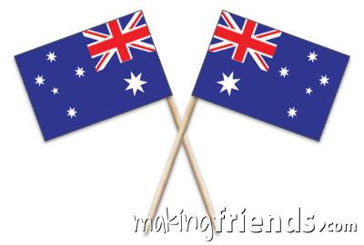 Australia Toothpick Flags via @gsleader411