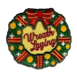 Wreath Laying Scout Patch
