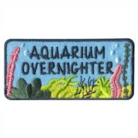 Aquarium Overnighter Girl Scout Fun Patch for Aquarium Month