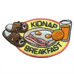 Girl Scout Kidnap Breakfast Fun Patch