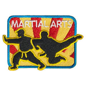 Martial Arts Patch. Martial arts are a great way for your scouts to learn about fitness and self defense. Ask your local martial arts studio to allow your troop to come in for a class or for an instructor to come into a meeting to teach some basic moves. This eye catching patch from MakingFriends®.com will remind your scouts of this fun activity. via @gsleader411