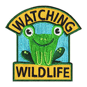 Watching Wildlife Patch. This cute frog patch is a great way to celebrate your kids' wildlife trip or project! Available at MakingFriends®.com. via @gsleader411