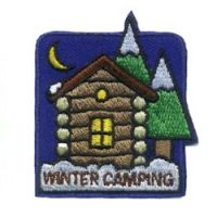 Girl Scout Winter Camping Fun Patch