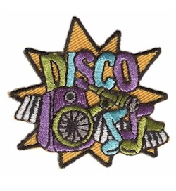 Disco Girl Scout Fun Patch