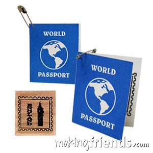 England Girl Scout Mini Passport SWAP Kit via @gsleader411