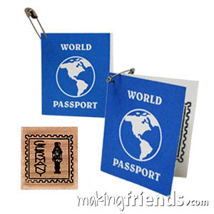 Germany Mini Passport Friendship Swap Kit. These passport crafts are sure to be a hit at your World Thinking Day* or International booth, especially when the girls get their passport stamped! Kit makes 100. More fun ideas for your Germany booth on our page Germany | Ideas for Thinking Day* including costumes, recipes, patches and more. via @gsleader411