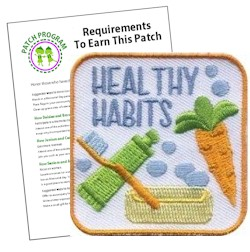 Healthy Habits Patch Program® from MakingFriends®.com. Help girls of every level learn healthy habits to keep them feeling and looking their best. See our suggested requirements. This program is one in a series of programs about good health habits. #makingfriends #patchprogram #scoutingfromhome #girlscouts #scouting #juliettescouts via @gsleader411