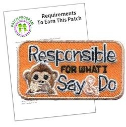 Responsible for What I Say and Do Patch Program