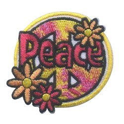 Peace Girl Scout Fun Patch