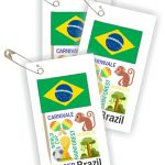 Brazil Thinking Day Toothpick Flag SWAPs