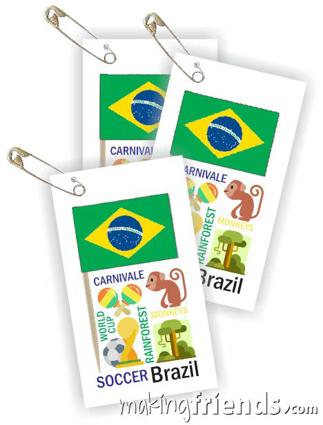 Brazil Toothpick Flag Friendship Swap Kit. It doesn't get any better than this! Economical and easy crafts if you're doing Brazil for your World Thinking Day* or International event. Kit makes 100 and is available at MakingFriends®.com. Find information about Brazil as well as patches, crafts, passports and more for your international event on our page Brazil | Ideas for Thinking Day*. #thinkingday #swaps #scouts #makingfriends via @gsleader411