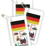 Germany Thinking Day Toothpick Flag SWAPs