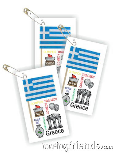 Girl Scout Thinking Day Toothpick Flag SWAP Greece via @gsleader411
